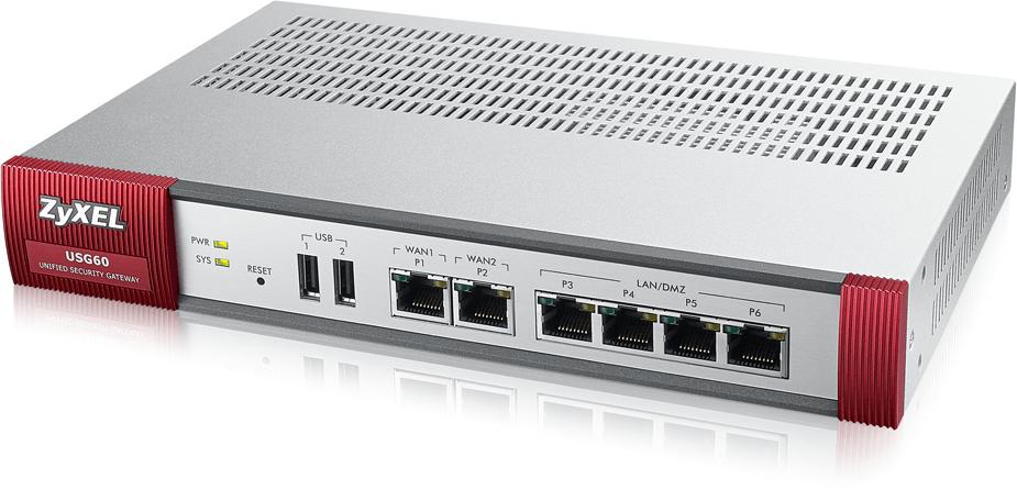 Zyxel USG 60 Unified Security Gateway | ZyxelGuard com