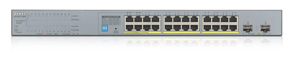 Zyxel GS1300-26HP 24-port GbE Unmanaged PoE Switch with GbE Uplink    ZyxelGuard.com