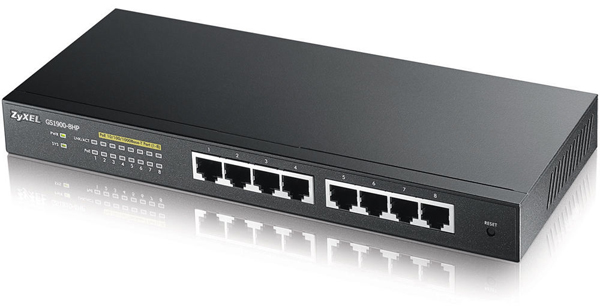 Zyxel GS1900-8HP 8-port GbE Smart Managed Switch