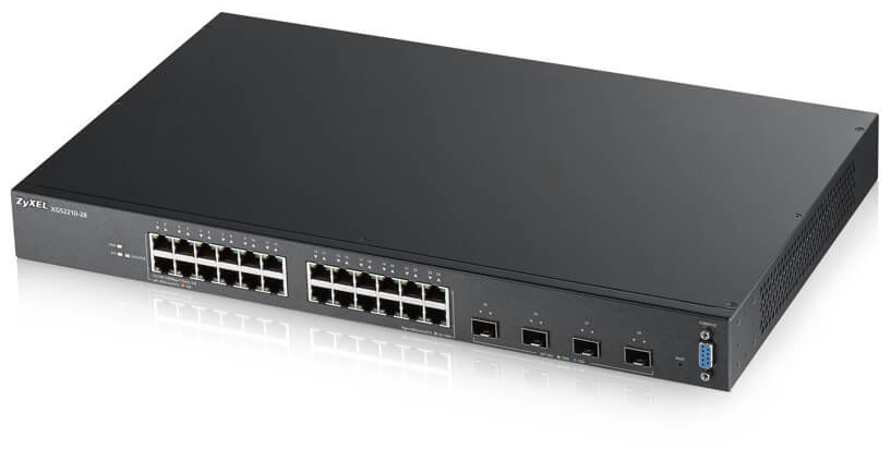 24-port GbE L2 Switch with 10GbE Uplink Zyxel XGS2210-28