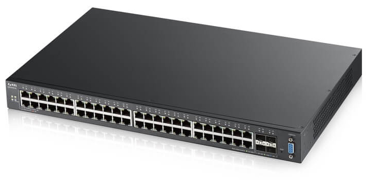 48-port GbE L2 Switch with 10GbE Uplink Zyxel XGS2210-52