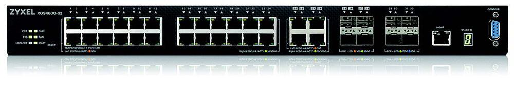 Zyxel XGS4600-32 28-port GbE L3 Managed Switch with 4 SFP+ Uplink    ZyxelGuard.com