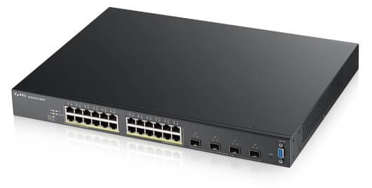24-port GbE L2 PoE Switch with 10GbE Uplink Zyxel XGS2210-28HP