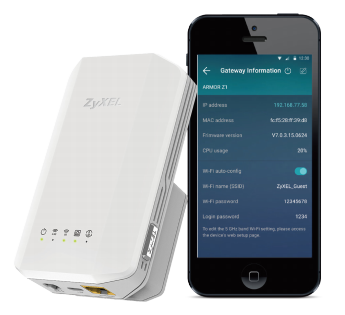 Sync Wi-Fi settings with Zyxel ONE Connect mobile app